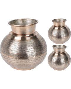 Vaas Aluminium Zilver/Brons 23 cm