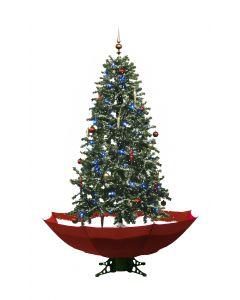 Sneeuwende Kerstboom Rood