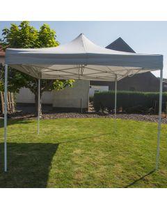 Partytent 3x3 meter easy up deluxe grijs Pure Garden & Living