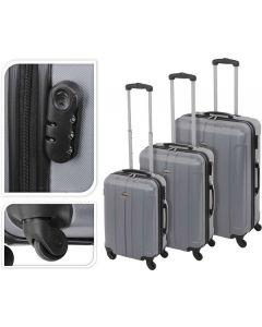 Koffer zilver - 61 liter