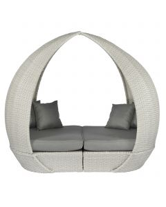 Pure Garden & Living Peach lounge eiland wicker grijs