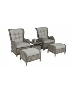 "Loungeset Kingset Wicker ""Bolivia"" Antraciet"