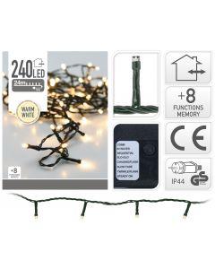 Ledverlichting 240 LED lampjes warm wit