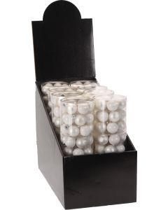 Kerstbal 18X 30mm wit