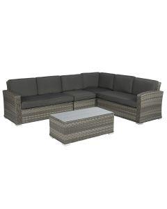 Elegant luxe hoekbank loungeset wicker Pure Garden & Living