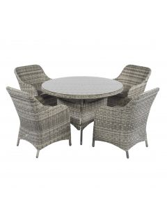 Cappucino dining loungeset wicker naturel Pure Garden & Living