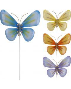 Tuinprikker metalen vlinder