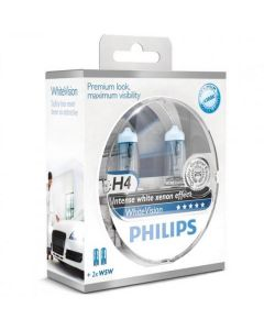 Philips Whitevision H4 W5W set