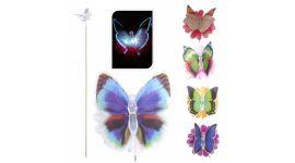 Vlinder op bloem met LED lampje