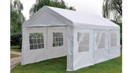 Partytent 3x6 meter deluxe wit met zijwanden Pure Garden & Living