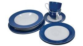 Servies 10-delig blauwe rand