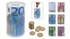 Muntgeld spaarpot Euro