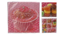 Servetten Cupcake 33x33