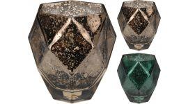 Theelichthouder Metallic 10 cm