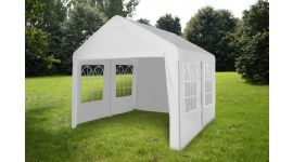Partytent 3x4 meter wit met zijwanden Pure Garden & Living