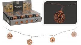 LED lampjes met metalen koperen bal