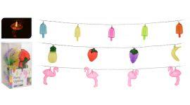 Feestverlichting Flamingo/ijs/fruit