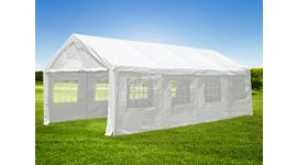 Partytent 4x8 meter wit met zijwanden Pure Garden & Living