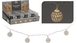 LED verlichting met metalen decoratie