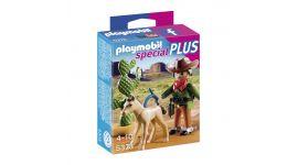 Playmobil Cowboy met wild veulen - 5373