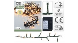 Microcluster 1200 LED lampjes warm wit - 24 m