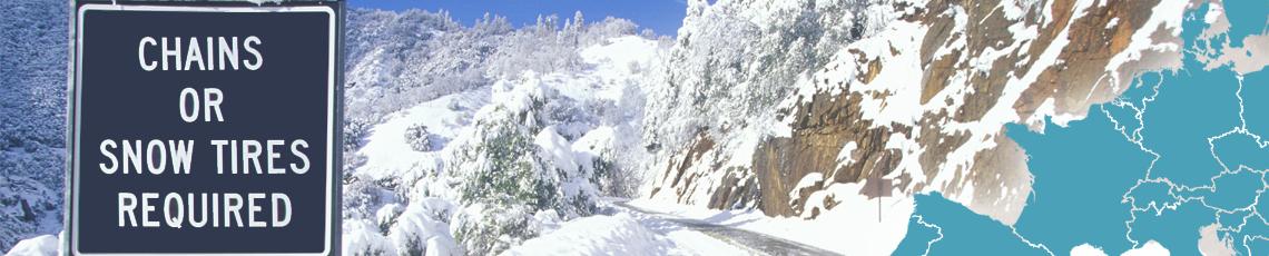 Sneeuwkettingen in het buitenland